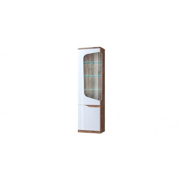 Evora шкаф с витриной 1V1D L