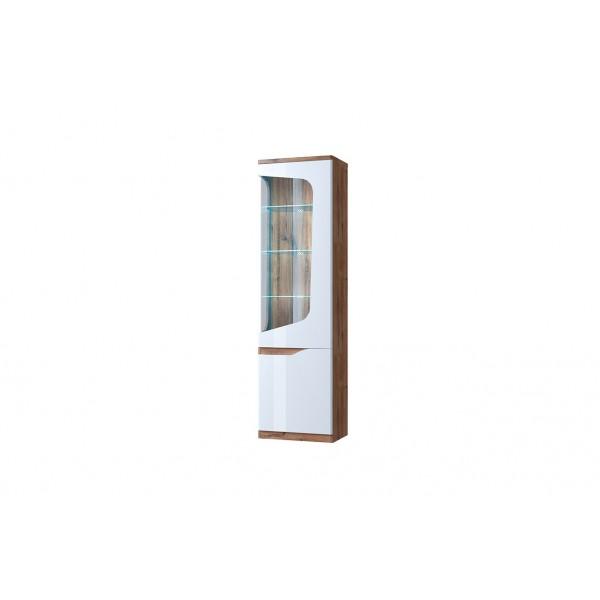 Evora шкаф с витриной 1V1D P