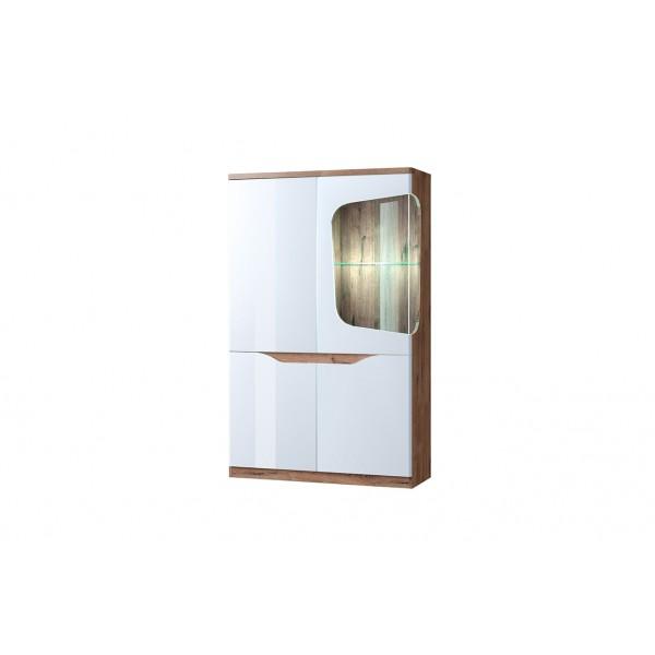 Evora шкаф с витриной 1V3D P