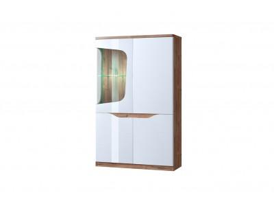 Evora шкаф с витриной 1V3D L