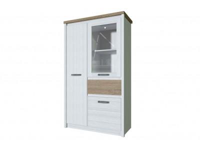 PROVENCE Шкаф с витриной  1V2D1S