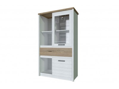 PROVENCE Шкаф с витриной  1V1D1S3N
