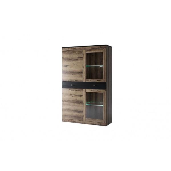 Anrex JAGGER Шкаф с витриной  2V2D1S