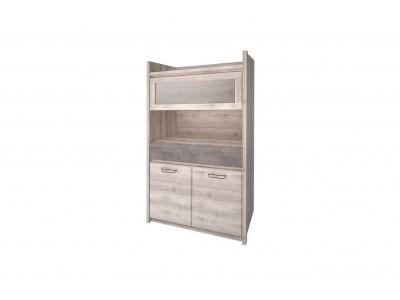 Jazz Шкаф с витриной 1V2D1S