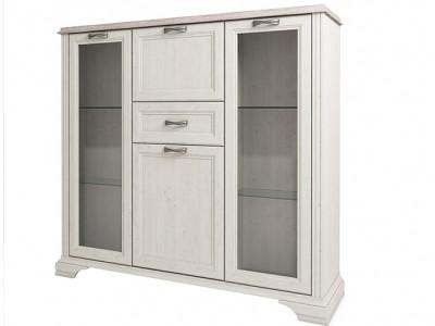 Monako шкаф с витриной 2V2D1S